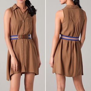 BB Dakota Churchill Belted Shirt Dress in Brown